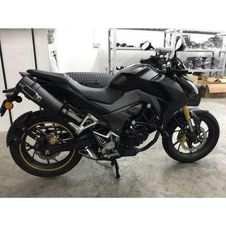 Custom Bracket + Megatube Honda CB190R
