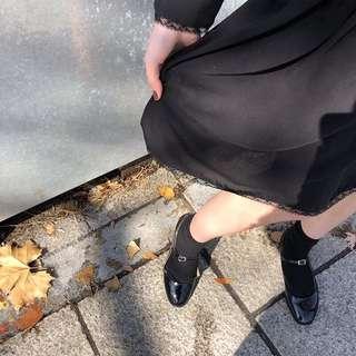 可愛漆皮娃娃鞋兩色