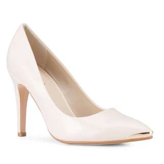 Patent Pointed Toe Pumps with Metal Toe Cap