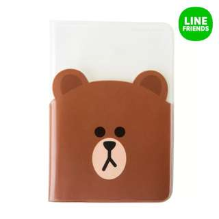 Authentic brown passport cover