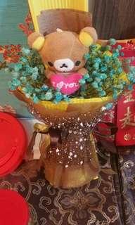 Rilakumma mini baby breaths bouquet
