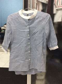 Stripe blue shirt