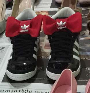 Adidas High Cut Red Bow Sneakers Shoes