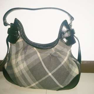 Authentic Burberry Silver Hobo
