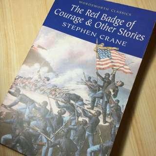 "English Book ""The Red Badge Of Courage & Other Stories'' By Stephen Crane 英文書 學習 英文 USA America 美國 american History Western 歷史 War Battle 戰爭 University Reading 閱讀 書 American Universities learning English literature literatures 文學 英國文學 non fiction 小說"