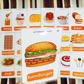 🙂 🌈FOOD🌈FLASH CARDS(36PCS)