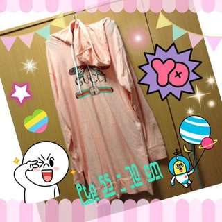 Pink Gucci hoodie long sleeve dress /Gucci long top