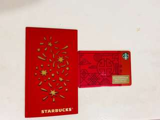 Starbucks china card with matching sleeve