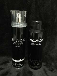 Authentic Kenneth Cole Black Body Mist/Spray (his & her)