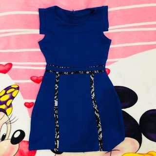 Navy Black Dress