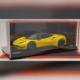 BBR 1/18 Ferrari 488 GTE Tristrato Yellow