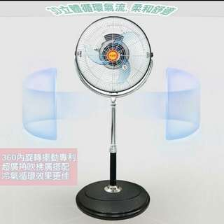 【雲飛小鋪】雙星~16吋內旋式360度商業/工業涼風循環扇 TS-1639
