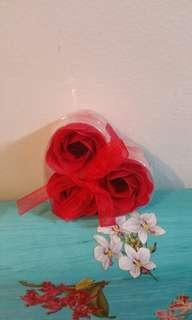 Mini soap rose set