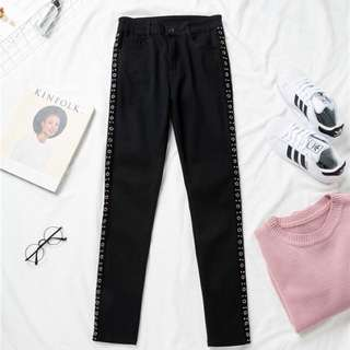 (XL~5XL) 2018 Spring Women's Casual Hollow Casual Pants Trousers