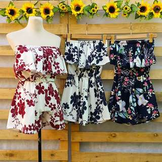 TUBE TOP ROMPER SHORT
