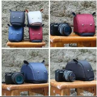 tas kamera mini mirrorles fuji sony olympus canon nikon mouse pouch