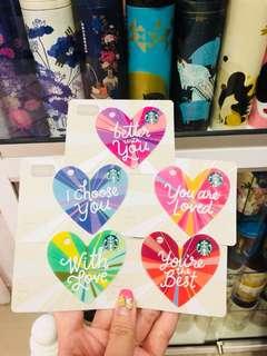Starbucks USA valentines card set