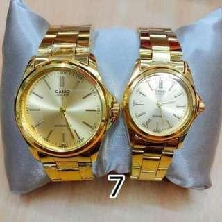 Casio 款情侶對装腕錶