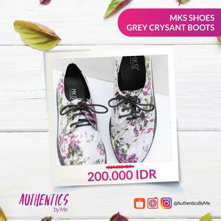MKS SHOES GREY CRSYANT BOOTS