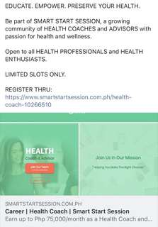 Looking for health coaches (nutritionist, fitness instructor, nurse or any professional)