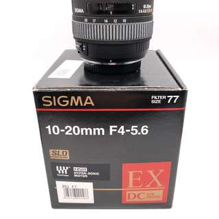 NEW Sigma 10-20mm f4-5.6 EX DC HSM Lens (4/3 Mount)