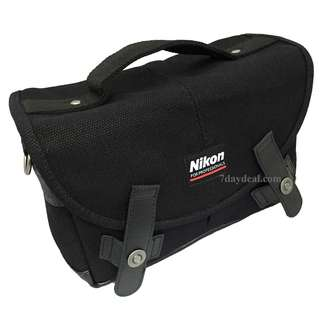 Camera Bag (Nikon Black Canvas Messenger)