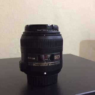 Nikon 40mm f2.8 Micro Lens  (price nett)