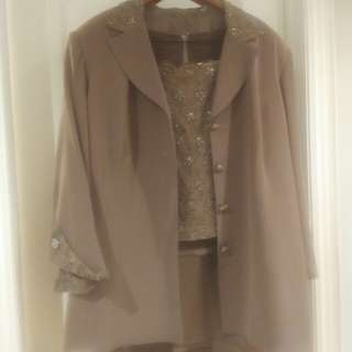 Custom Made Plus Size 3 Piece Suit