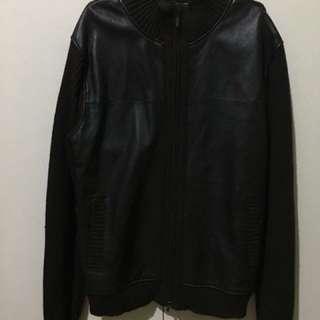 Claiborne leather cotton jacket (brown)
