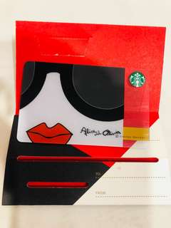 Starbucks china Alice and Olivia card