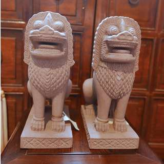 Replica pair of Stone Lion of Angkor Wat