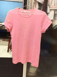 ZARA pink basic slim fit shirt