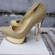Amante gold heels