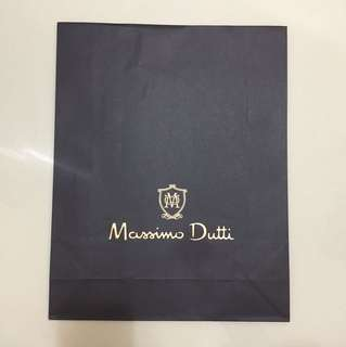 Massimo dutti paperbag for clothes