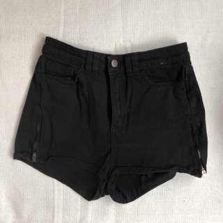 American Apparel Black Denim Shorts