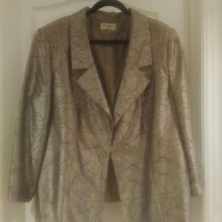 Plus Size Brown Custom Made Jacket. Size 18