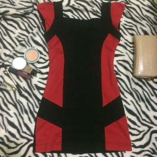 Red black dress