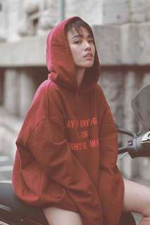 Quote Red Hoodie