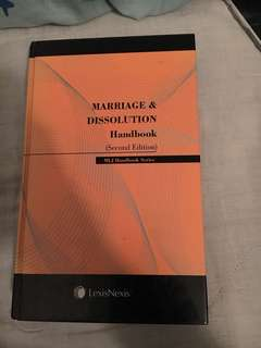 Law book ( marriage and dissolution handbook )