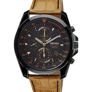 Seiko Black Dial Black watch