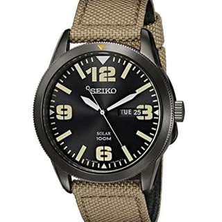Seiko Men's  Nylon Solar  Watch