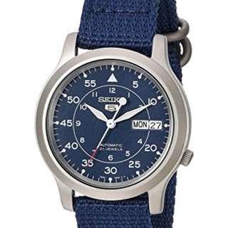 Seiko 潮款藍布帶錶