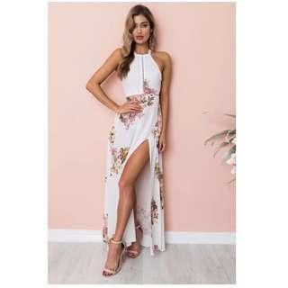 (BN) Belinda Halter Neck Maxi Dress