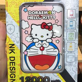 多啦a夢 & Hello kitty 充電器12000mAh