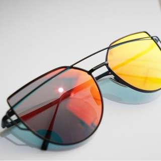 Sunglasses Kacamata Hitam Style Korea - Merah