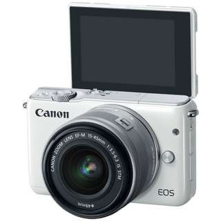 NEW SET CANON M10 WITH 15-45MM KIT LENS.