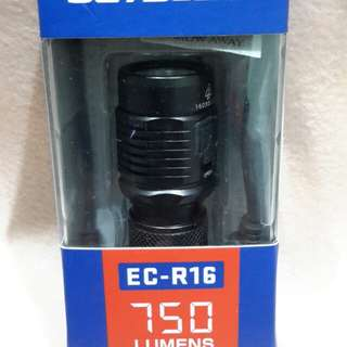 JETBEAM EC-R16 750 LUMENS USB RECHARGEABLE  FLASHLIGHT(only at 70mm length )