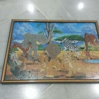Jigzaw Puzzle Frame