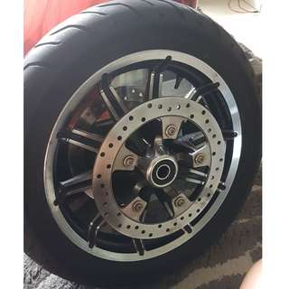 Tyre & Rim for Harley Touring Model
