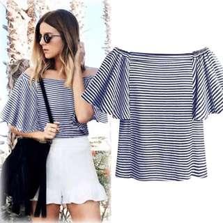 (L~4XL) 2018 European Summer Striped Flying Slim Slim Short T-Shirt